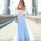 Women Lace Chiffon Formal Dress Prom Ball Gown Formal Party Evening Maxi Dresses