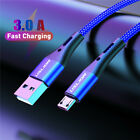 Braided Fast Charging Micro Cable 3A Phone Charger Data Micro USB Cable 1m 2m 3m