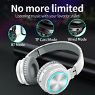 Stereo Bass Headphones Foldable Wireless Bluetooth 5.0 Headsets Gaming Earphones