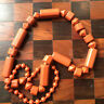 long chunky vintage bead necklace