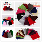 1-50pcs Soft Velvet Drawstring Gift Bags Wedding Jewellery Party Pouch Bags Uk