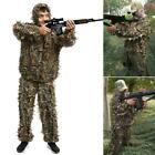 2 Pieces Ghillie Suit Woolland 3D Leaves Camo Camouflage Forest Hunting W2YN