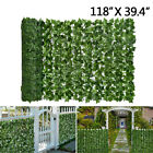Artificial Leaf Hedge Roll Green Screen Panels Garden Fence Privacy Foliage 3m