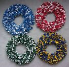 "Detroit Lions-Red Wings-Michigan State-MI University-18"" Rag Wreath Fabric $39.99 USD on eBay"
