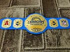 Chargers Los Angeles Champions Wrestling Leather Belt 4MM Plates Replica Adults $219.99 USD on eBay