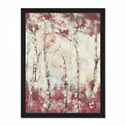 Birch+Trees+Abstract+Painting+Framed+Wall+Art+Print+18X24+In