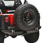 Steel Rear Bumper with Secure Lock Tire Carrier Fit for 76-86 Jeep Wrangler CJ