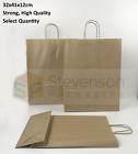 Stronghold Twist Handle Paper Party and Gift Carrier Bag Medium BROWN