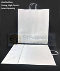 Stronghold Twist Handle Paper Party and Gift Carrier Bag Large WHITE