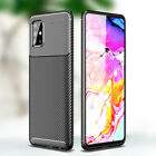 For Samsung S10 S20 Plus Ultra A51 A71 Note 10 Luxury Carbon Fiber Silicone Case