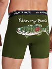 Hatley Blue House Men's Fishing Kiss My Bass Cotton Funny Boxer Brief Underwear