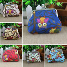 Coin Purse Mini Women Wallet Key owl print Ladies Small Wallet Card Holder Coins image