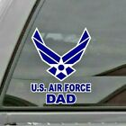 United States Air Force Dad Usaf Vinyl Window Decal/sticker Blue/white