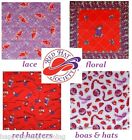 8 - RED HAT SOCIETY Official Bandana Scarf Head Wrap Scarve Hanky RHS USA MADE