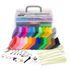 24 Mixed Color Set Oven Bake Polymer Soft Clay Modelling Moulding DIY Toys Tools image