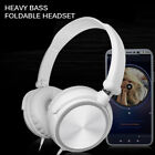Wired Headphones Over Ear Bass HiFi Stereo Sound Music Stereo Earphone Foldable