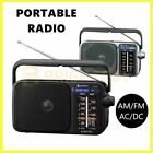 portable am fm radio battery powered ac dc earphone plug jack speaker antenna