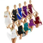 Kyпить US Lyrical Women Chiffon Dress Asymmetric Skirted Leotard Dance Practice Costume на еВаy.соm