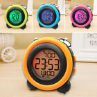 Alarm Clock LED Display Snooze Electronic Digital Wake Up Twin Bell Color Screen