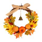 1X(Autumn Harvest Maple Leaf Pumpkin Front Door Wreath Front Door Home Deco3F4)