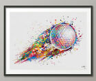 Golf Ball Watercolor Print Gift for Golfers Golf Gift Golfer Golf Sports Art-749