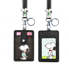 ID Badge Holder Cute Credit Card Case Neck Pouch Lanyard Cartoon Shield Keychain