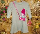 Trolls by Dreamworks Gray Fashion Dress adorned with a Troll Sz 2T, 3T & 5T image