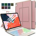iPad Pro 11 2018 Wireless Keyboard Stand Cover Case & Pencil Slot Backlit Slim