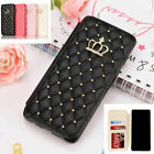 Vintage Crown Diamond Wallet Card Flip Case Cover For Samsung Galaxy S10 Plus A8