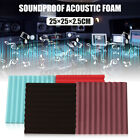 12/24/36Pcs Wedge Foam Wall Acoustic Panel Tiles Soundproofing Studio Treatment, used for sale  United Kingdom