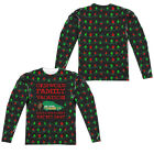 CHRISTMAS VACATION FAUX UGLY SWEATER Licensed Men's Long Sleeve Tee Shirt SM-3XL