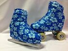 Holo Hawiian Floral Boot Covers for RollerSkates and Ice Skates  SMALL ONLY