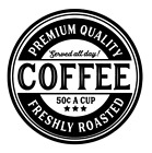 Coffee Kitchen Sign Vinyl Decal Sticker For Home Glass Wall Decor Choice