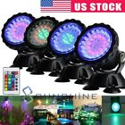 Submersible 36 LED RGB Pond Spot Lights Underwater Pool Fountain IP68+IR Remote $40.77 USD on eBay