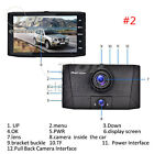 4'' HD 1080P 3 Lens Car DVR Dash Cam Vehicle Video Recorder Rearview Camera 170