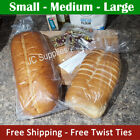 Kyпить 100 - 1000 Bread Bags w Twist Ties for Homemade loaf recipe baked pan loaves на еВаy.соm