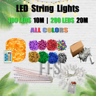 LED String Lights 100-200LED 10M 20M Christmas Fairy Light Waterproof Warm/White