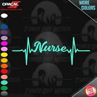 Nurse Pulse Heartbeat Car Laptop Window Cup Peel & Stick Vinyl Decal Sticker