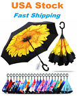 C-Handle Inverted Reverse Umbrella Flower/Solid/Animal/City/Unicorn/Flamingo/Pet