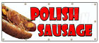 POLISH SAUSAGE BANNER SIGN sandwich concession sign