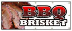 BBQ BRISKET BANNER SIGN slow cooked texas north carolina pork beef good