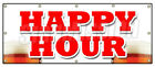 HAPPY HOUR BANNER SIGN all day 2 for 1 two for one beer cocktails drink