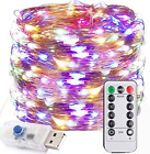 Nrthtri smt 100LED 12M 8 Modes String Light USB Holiday Christmas Decorative Lam