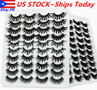 Kyпить ????8/10/20 Pair 3D Natural Bushy Cross False Eyelashes Mink Hair Eye Lashes Black на еВаy.соm