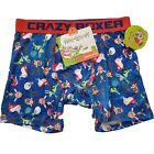 Ren and Stimpy Men's Boxer Briefs, Size M, L, Blue, Red, Gift, Nickelodeon C1