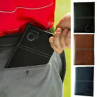 Leather Golf Scorecard Holder with 2 Score Sheets Deluxe Book Black Golfer Gift