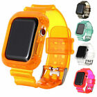 For Apple iWatch Series 4 44mm Protective Rugged Case Cover Wrist Strap Band TPU image