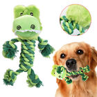 WR_ Pet Dogs Plush Rope Crocodile Bite Teeth Cleaning Interactive Squeak Toy Eag