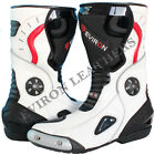 Motorcycle Motorbike Sports Leather Boots - 100% Water Resistant