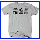 NEW TRIATHLETE SWIM BIKE RUN ENDURANCE SPORT STAMINA PERSISTENCE TSHIRT FOR MEN